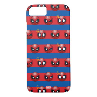 Spider-Man Emoji Stripe Pattern iPhone 7 Case