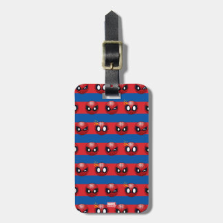 Spider-Man Emoji Stripe Pattern Luggage Tag