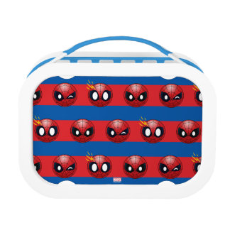 Spider-Man Emoji Stripe Pattern Lunch Box