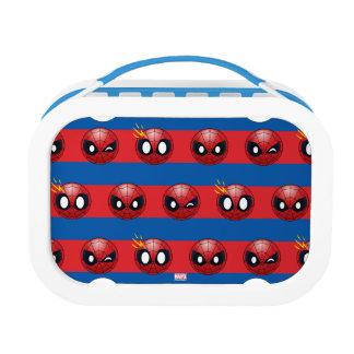 Spider-Man Emoji Stripe Pattern Lunchboxes