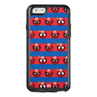Spider-Man Emoji Stripe Pattern OtterBox iPhone 6/6s Case