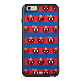 Spider-Man Emoji Stripe Pattern OtterBox iPhone 6/6s Plus Case