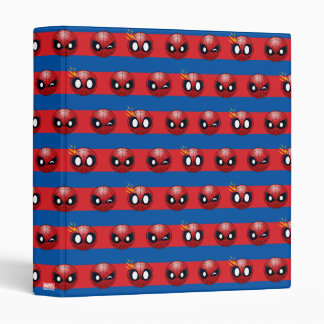 Spider-Man Emoji Stripe Pattern Vinyl Binders