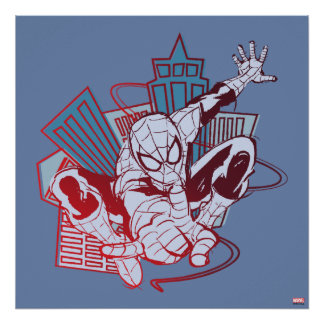 Spider-Man et croquis de ville