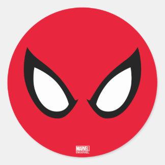 Spider-Man Eyes Classic Round Sticker