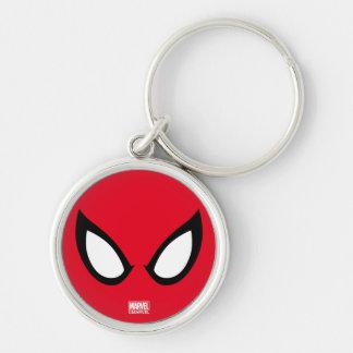 Spider-Man Eyes Silver-Colored Round Keychain
