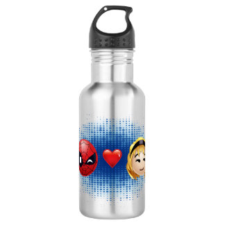 Spider-Man & Gwen Heart Emoji 532 Ml Water Bottle