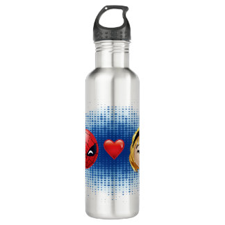Spider-Man & Gwen Heart Emoji 710 Ml Water Bottle