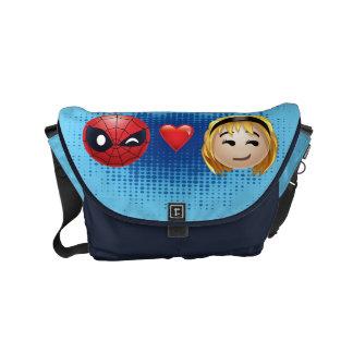 Spider-Man & Gwen Heart Emoji Courier Bag
