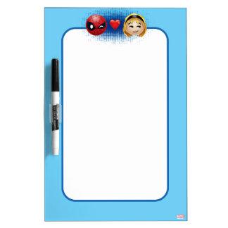 Spider-Man & Gwen Heart Emoji Dry Erase Board