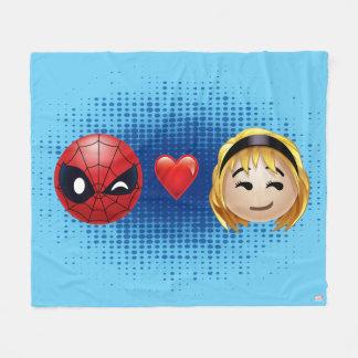 Spider-Man & Gwen Heart Emoji Fleece Blanket