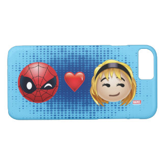 Spider-Man & Gwen Heart Emoji iPhone 7 Case