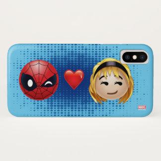 Spider-Man & Gwen Heart Emoji iPhone X Case