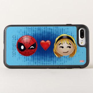 Spider-Man & Gwen Heart Emoji OtterBox Symmetry iPhone 8 Plus/7 Plus Case
