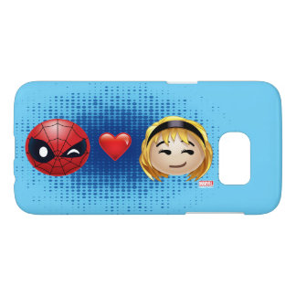 Spider-Man & Gwen Heart Emoji Samsung Galaxy S7 Case