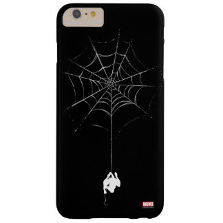 Spider-Man Hanging From Web Silhouette Barely There iPhone 6 Plus Case