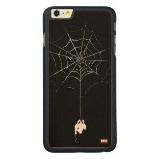 Spider-Man Hanging From Web Silhouette Carved® Maple iPhone 6 Plus Case