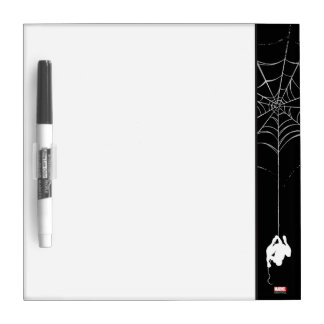 Spider-Man Hanging From Web Silhouette Dry Erase Whiteboards