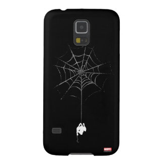 Spider-Man Hanging From Web Silhouette Galaxy S5 Covers