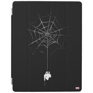 Spider-Man Hanging From Web Silhouette iPad Cover