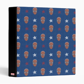 Spider-Man Head and Stars Pattern Binders