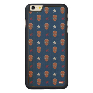 Spider-Man Head and Stars Pattern Carved® Maple iPhone 6 Plus Case