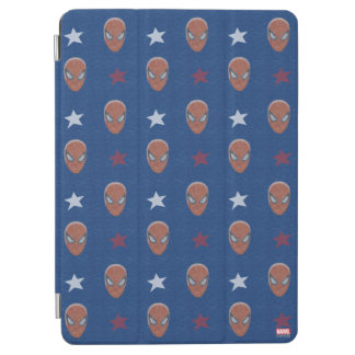 Spider-Man Head and Stars Pattern iPad Air Cover