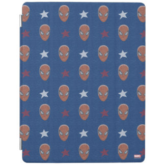 Spider-Man Head and Stars Pattern iPad Cover