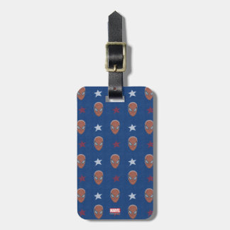 Spider-Man Head and Stars Pattern Luggage Tag