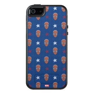 Spider-Man Head and Stars Pattern OtterBox iPhone 5/5s/SE Case