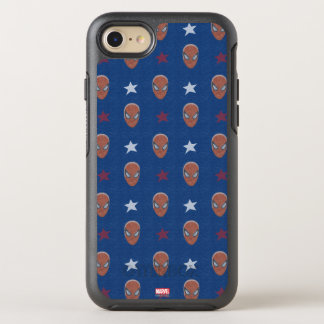 Spider-Man Head and Stars Pattern OtterBox Symmetry iPhone 7 Case