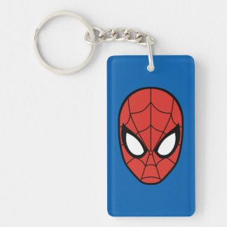 Spider-Man Head Icon Double-Sided Rectangular Acrylic Keychain