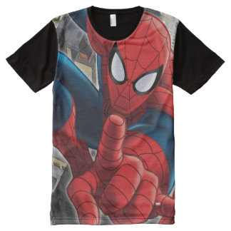 Spider-Man High Above the City All-Over-Print T-Shirt