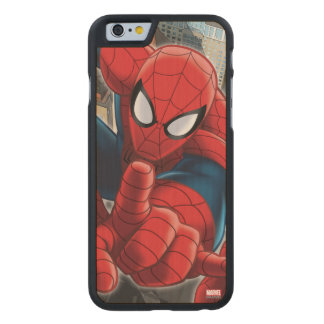 Spider-Man High Above the City Carved® Maple iPhone 6 Case