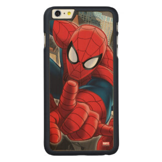 Spider-Man High Above the City Carved® Maple iPhone 6 Plus Case