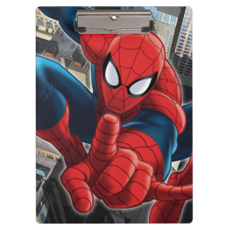 Spider-Man High Above the City Clipboards