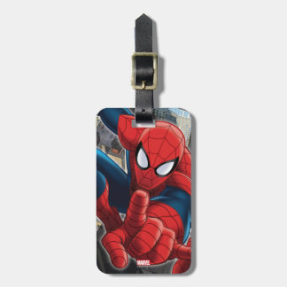 Spider-Man High Above the City Luggage Tag