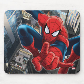 Spider-Man High Above the City Mouse Pad