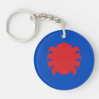 Spider-Man Icon Double-Sided Round Acrylic Keychain
