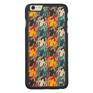 Spider-Man Icon Pattern Carved® Maple iPhone 6 Plus Case