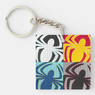 Spider-Man Icon Pattern Double-Sided Square Acrylic Keychain