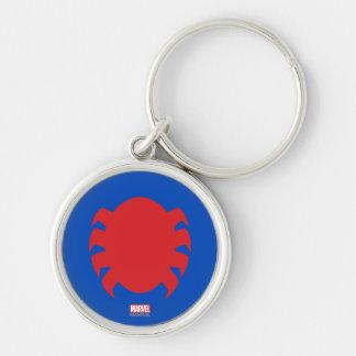 Spider-Man Icon Silver-Colored Round Keychain