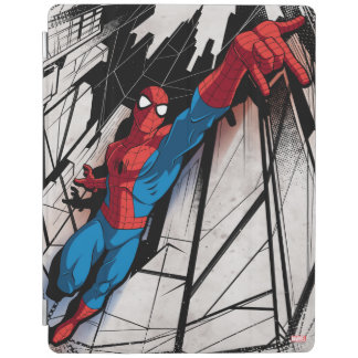 Spider-Man In Abstract City iPad Cover