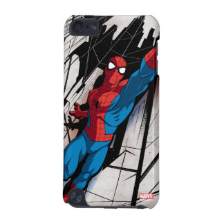 Spider-Man In Abstract City iPod Touch (5th Generation) Cover