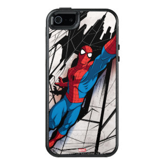 Spider-Man In Abstract City OtterBox iPhone 5/5s/SE Case