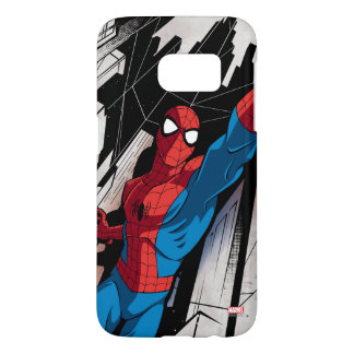 Spider-Man In Abstract City Samsung Galaxy S7 Case