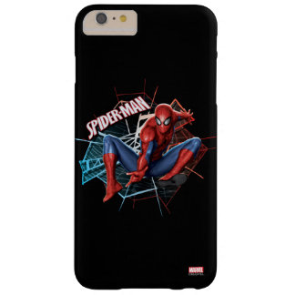 Spider-Man in Fractured Web Graphic Barely There iPhone 6 Plus Case
