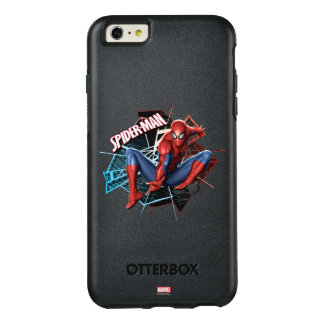 Spider-Man in Fractured Web Graphic OtterBox iPhone 6/6s Plus Case