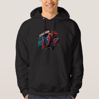 Spider-Man in Fractured Web Graphic Pullover