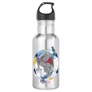 Spider-Man In Kaleidoscope Web 532 Ml Water Bottle